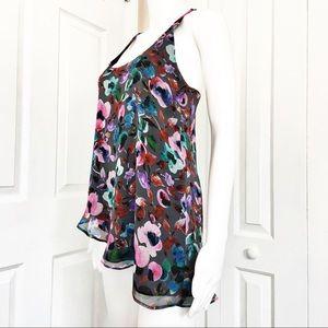 LAmade Tops - LAmade Silk Floral Tank