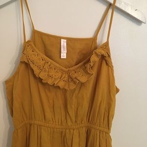 Xhilaration Dresses - Mustard Lace Detail Dress