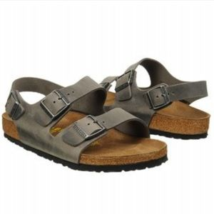 Birkenstock Other - Birkenstock Milano Waxy Leather Sandals - Iron