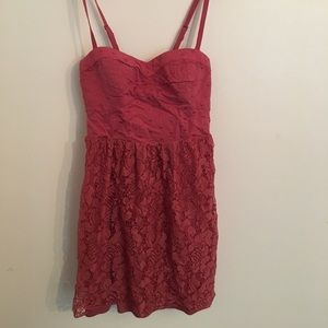 Beautiful Berry Lace Detail Bubble Dress