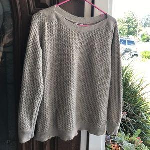 Oversized tan sweater