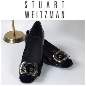 Stuart Weitzman Shoes - Stuart Weitzman Black Patent Leather Flats