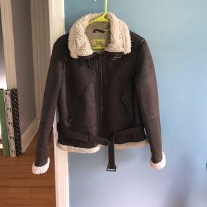 Maralyn & Me Jackets & Blazers - Bomber jacket size XL Sherpa lined