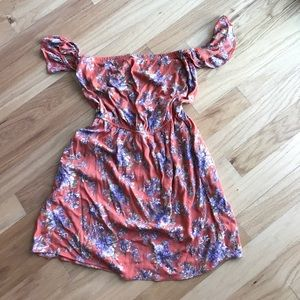American Eagle Outfitters Dresses & Skirts - Still in stores! Off shoulder floral mini dress