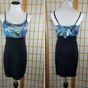 Free People Dresses & Skirts - Free People blue and black lace waist dress
