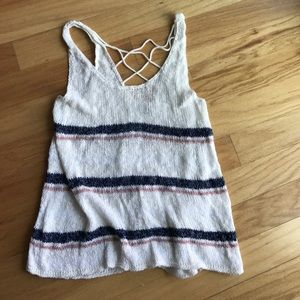 American Eagle Outfitters Tops - American Eagle knit tank with open back
