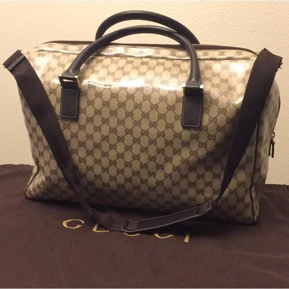 585be0262206ca Gucci Bags | Gg Crystal Canvas Weekender Duffle Bag | Poshmark