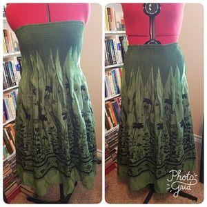 Lapis Dresses & Skirts - Strapless Smock Style Dress or Skirt