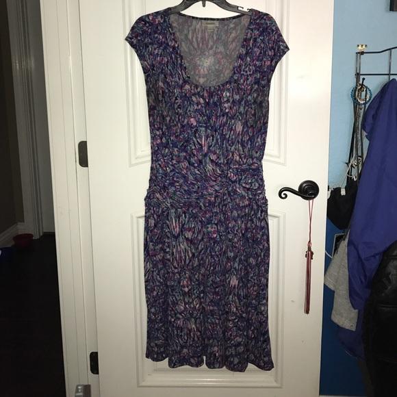 9a53b8544029 Dress Barn Purple   White Flowy Dress