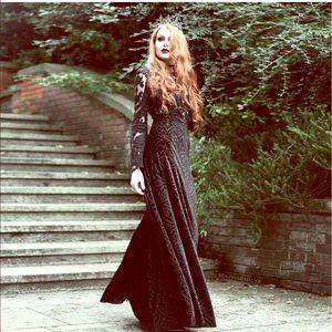 Blackmilk Dresses & Skirts - 💥FLASH SALE💥Blackmilk burned velvet black dress