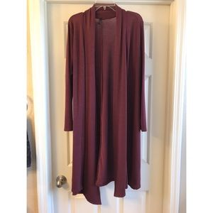 Rags and Couture Sweaters - L burgundy duster cardigan