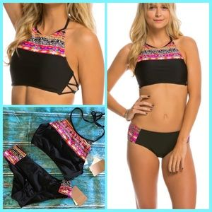 Hobie Other - JUST IN🆕WHAT'S KNOT TO LIKE' HIGH NECK BIKINI SET