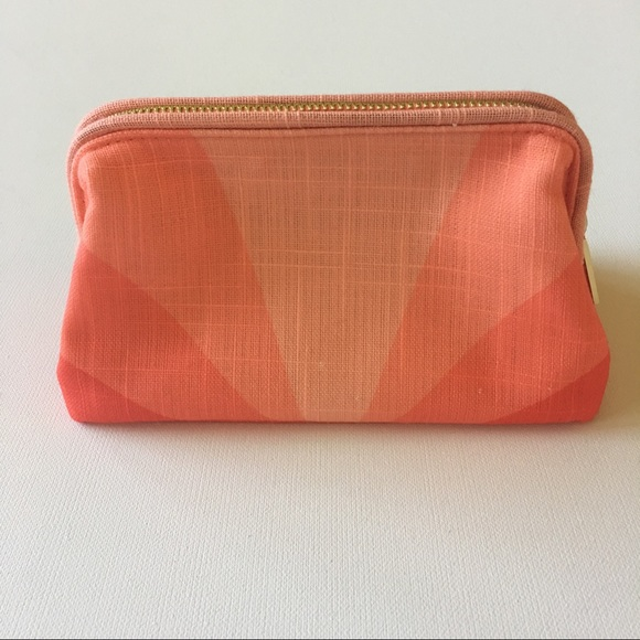 Trina Turk Nwot Coral Fabric Makeup Bag