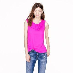 J. Crew Gabby Silk Neon Sleeveless Blouse Shirt 4