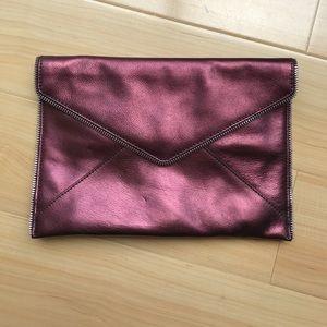 Rebecca Minkoff Handbags - Rebecca Minkoff Cranberry Metallic Leo Clutch