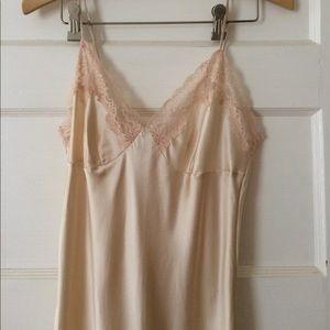 Victoria's Secret Other - Victoria's Secret nude silk slip/night gown w/lace