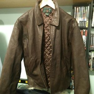 Vintage J.Crew leather jacket