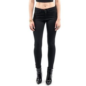 Style Link Miami Denim - BLACK HIGH WAISTED SKINNY JEANS