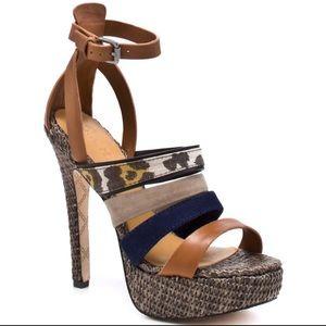 •L.A.M.B• Multi Colored Eben Heels