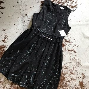 Calvin Klein Dresses & Skirts - NWT Calvin Klein laser cut belted dress 14