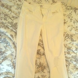 White stretchy Paige jeans