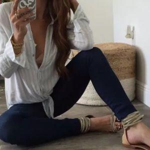 J Brand Denim - J BRAND Cigarette Leg Dark Wash Jeans