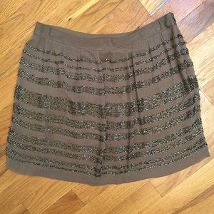 Club Monaco Dresses & Skirts - Club Monaco 100% SILK Beaded Mini Skirt