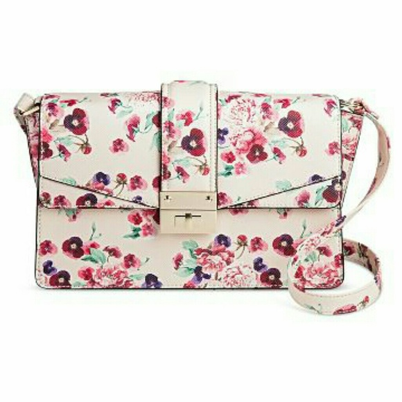 43% Off Mossimo Supply Co Handbags - Womenu0026#39;s Pink Floral Crossbody Handbag - Mossimo From Ashu0026#39;s ...