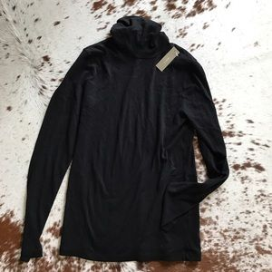 J. Crew Sweaters - NWT J Crew black cotton turtleneck S