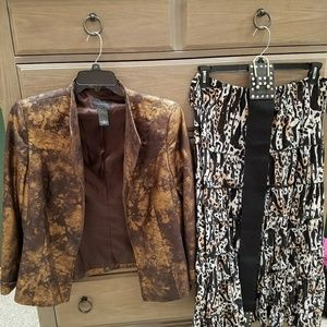 INVESTMENTS Jackets & Blazers - BRONZE AND BROWN JACKET