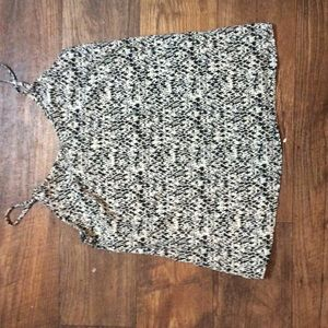 Black and white ikat tank top!
