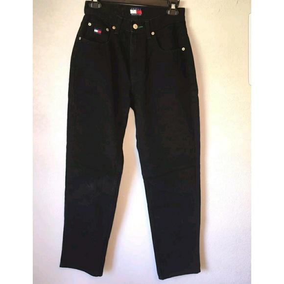 7c5a0d58c 🆕Tommy Hilfiger Vintage Mom Jeans Black Size 32. M_5946e791bf6df5512101747e
