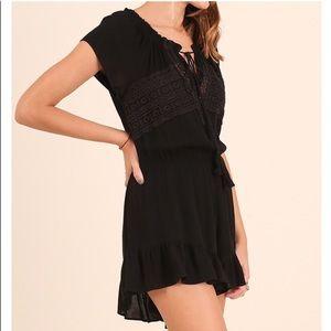 Dresses & Skirts - Sale! Sassy Black Crochet Romper