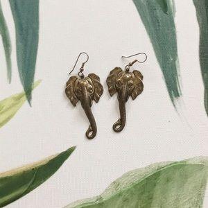 Jewelry - Gold Elephant Earrings