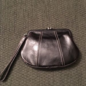 Fossil Handbags - Fossil Black Leather Wristlet Purse