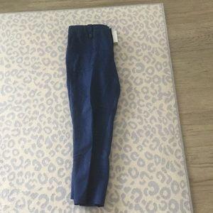 J. Crew Garden Pant in cobalt Blue