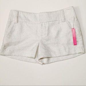 Alice + Olivia Pants - NWT Alice + Olivia White Shimmer Cady Shorts