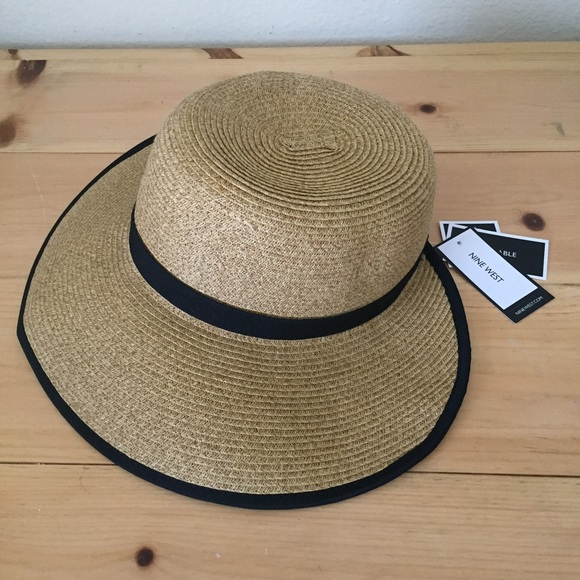 f47f8849c46 NWT Nine West Packable Brimless Floppy Hat