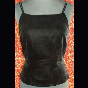 Ann Taylor Tops - ANN TAYLOR velvet spaghetti strap blouse S