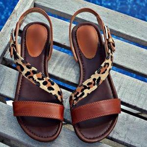 Shoes - Cheetah Print Sandals