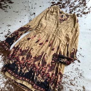 Free People Dresses & Skirts - Free People boho paisley button down dress M
