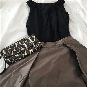 Aidan Mattox Dresses & Skirts - Aidan Mattox Brown Taffeta Long Evening Skirt