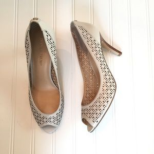 Ivanka Trump Shoes - •Ivanka Trump• Cola Leather Pumps