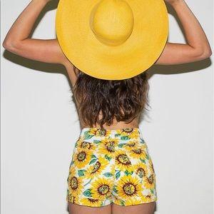 Sunflower high waisted denim cuffed shorts