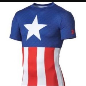 Under Armour Other - Men's UA captain America compression shirt size L