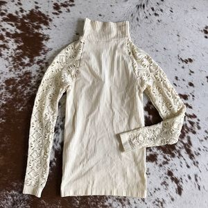 Free People Tops - NWT Free People Intimately cream lace sleeve top
