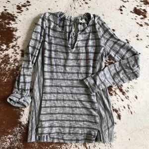 Anthropologie Postmark grey striped top S
