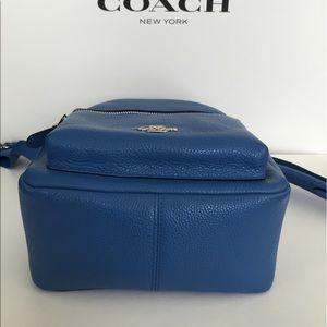 550a7f772a1b Coach Bags - COACH MINI CHARLIE BACKPACK PEBBLE LEATHER LAPIS