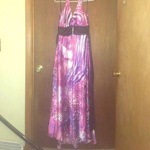 Taboo Dresses & Skirts - TABOO pink and purple leopard print formal prom