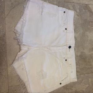 Denim & Supply Ralph Lauren Pants - White distressed frayed shorts